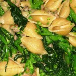 Meals From My Childhood: Shells with Turkey Sausage and Broccoli Rabe, and Balsamic Roasted Asparagus