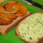 Roasted Butternut Squash and Guacamole Spread Sandwich