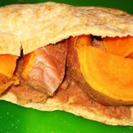 Carb Loading: Sweet Potato and Refried Bean Pitas