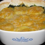 Polenta Gratin with Spinach and Mushrooms