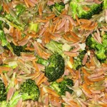 Autumn Harvest Orzo with Gorgonzola and Broccoli Sauce