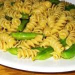 Curried Sugar Snap Pea Pasta