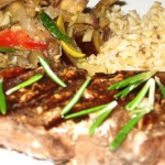 Rosemary-Grilled Tuna with Zucchini and Eggplant Relish