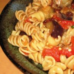 Fusilli with Eggplant, Pine Nuts, Capers, and Raisins