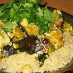 Warm Kabocha and Chickpea Salad with Tahini Dressing