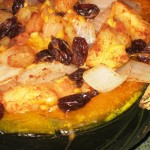 12 Weeks of Winter Squash – Stuffed Kabocha with Raisins, Apples, and Cheese
