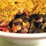 12 Weeks of Winter Squash – Supper Casserole with Pumpkin and Green Chili Cornbread Topping