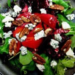 Slow-Roasted Beets with Buttermilk Blue Cheese, Arugula, and Toasted Pecans