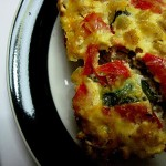 WHB – Cheesy Zucchini, Red Pepper and Barley Bake