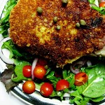 Pork Chop Milanese with Arugula Salad