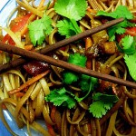 Sesame Noodle Salad with Dried Pineapple