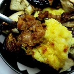 Sausage and Eggplant Polenta