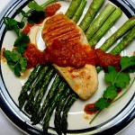 Spicy Grilled Chicken with Creamy Pumpkin Mole Sauce – Cook the Books