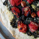 Bites of Bittman – Oven-Roasted Plum Tomato Tart Pizza with Pesto