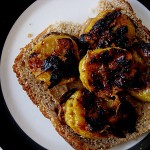 Roasted Plantain and Peanut Butter Sandwich on (Butter)Milk and Agave Bread