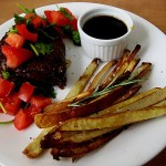 Grilled Hanger Steak with Lola Steak Sauce and Lola Fries with Rosemary – Symon Sundays