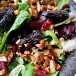 Arugula Salad with Roasted Figs, Pancetta, Almonds, and Chile – Symon Sundays