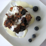 Blueberry White Chocolate Bread Pudding with Amaretto Cream Sauce – HBinFive