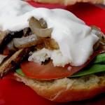 Portobello Mushroom Sandwiches with Tahini Sauce on Bittman's French Bread