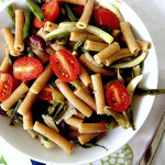 Roasted Green Bean and Fennel Pasta Salad