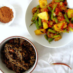 Ethiopian Lentil Stew (Misr Wot) and Ethiopian Green Beans and Potatoes (Yataklete Kilkil)