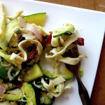 Homemade Linguine with Zucchini, Capers, Lemon, Pine Nuts, and Herbs – Cook the Books