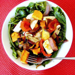 Kale and Sweet Potato Salad with Warm Bacon Dressing…and a GIVEAWAY!