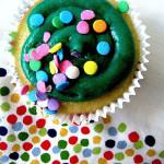 "Vegan Golden Vanilla Cupcakes with Avocado ""Buttercream"" Frosting"
