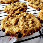 Peanut Butter Oatmeal Chocolate Chip Cookies and Maple Brown Sugar Cookies