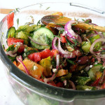 Michael Symon's Heirloom Tomato Salad with Red Onions, Dill and Feta
