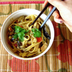 Bittman's Cold Peanut Noodles with Eggplant and Red Pepper