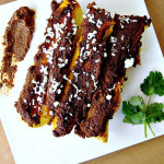 Please Vote For Me – Butternut Squash Enchiladas with Red Mole Sauce