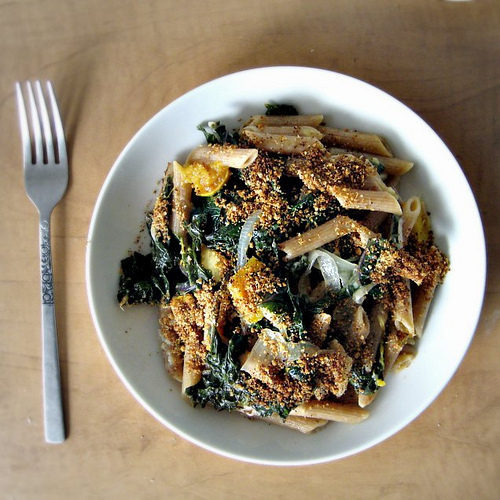 pennette with kale ragu
