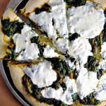 Spinach and Onion Curry Pizza on a Pumpkin Pizza Dough Crust – Project Food Blog Challenge #4