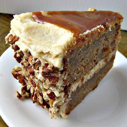 Apple-Spice Layer Cake with Caramel Swirl Icing | Joanne ...