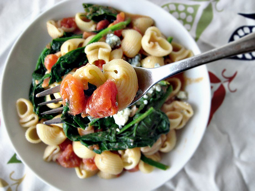 Pioneer Woman's Pasta with Tomato-Blue Cheese Sauce | Joanne Eats Well ...