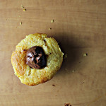Nutella Thumbprint Swirl Corn Muffins
