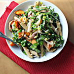 Pasta with Roasted Sweet Potatoes, Feta and Arugula…Eat.Live.Be. for a Better 2011!