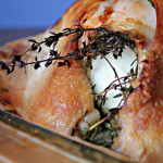 Lizzie's Roasted Chicken with Salsa Verde and Whipped Parsnips and Cauliflower with Goat Cheese