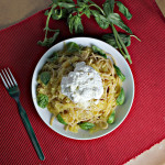 Spaghetti and Spaghetti Squash with Lemon Garlic Sauce and Ricotta…Eat.Live.Be. For a Better 2011!