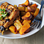 Spiced Chipotle Honey Chicken Breasts with Sweet Potatoes and Winter Squash…Eat.Live.Be. for a Better 2011!