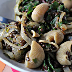 Lentils and Shells with Cilantro-Scented Onions and Swiss Chard…Eat.Live.Be. for a Better 2011!