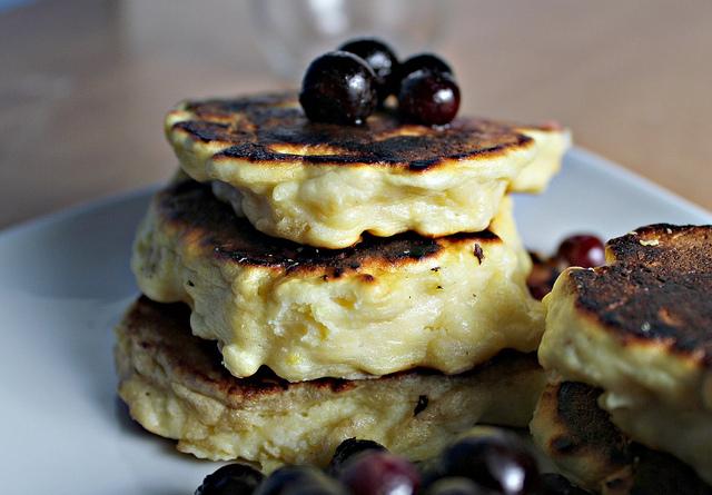 Meyer Lemon Ricotta Pancakes with Meyer Lemon Curd ...