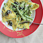 Ravioli Salad with Black Olives and Pepitas