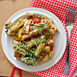 Rigatoni with Eggplant and Pine Nut Crunch…Eat.Live.Be. for a Better 2011!