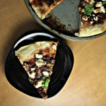 Savory Rhubarb and Chipotle Goat Cheese Pizza