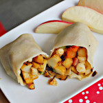 Parsnip, Red Bell Pepper and Ramp Burritos…and Blogger Bake for Hope!