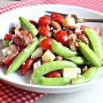 Cranberry Bean and Sugar Snap Pea Salad with Gouda