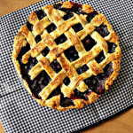 Martha Stewart's Lattice-Top Blueberry Pie