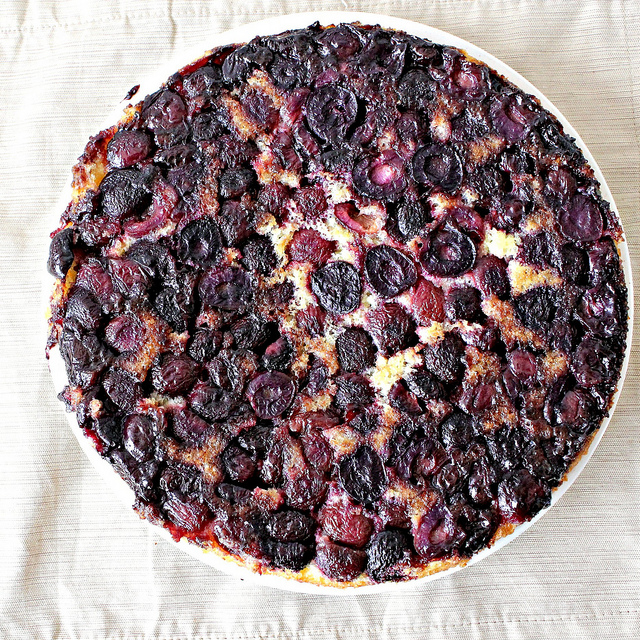 Cherry Cornmeal Upside-Down Cake | Joanne Eats Well With Others